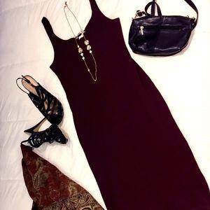 H&M Dark Red Slip on Knit Dress
